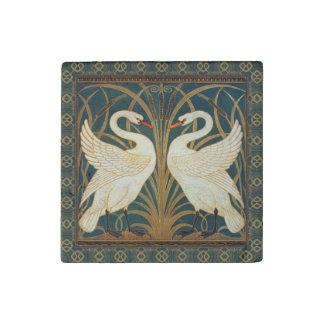 Walter Crane Swan, Rush And Iris Art Nouveau Stone Magnet