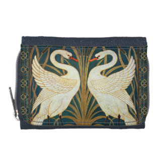 Walter Crane Swan, Rush And Iris Art Nouveau Wallet