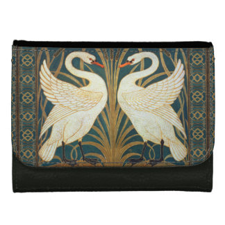 Walter Crane Swan, Rush And Iris Art Nouveau Wallets