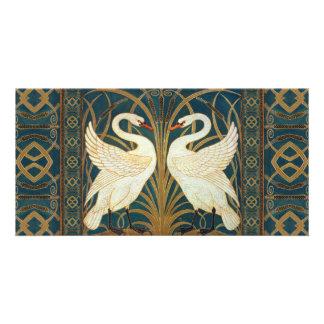 Walter Crane Swan, Rush And Iris Picture Card