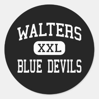 Walters - Blue Devils - High - Walters Oklahoma Round Sticker