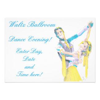 Waltz Ballroom Dancers Drawing Cards