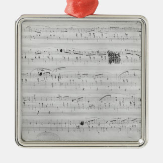 Waltz in F minor Metal Ornament