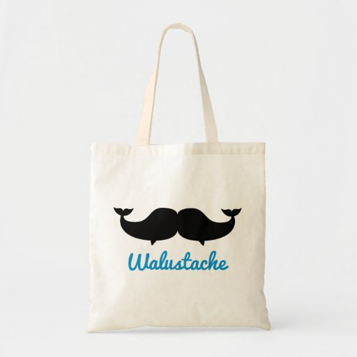 Walustache Whalestache Moustache Bags