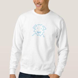 WAMPASTOMPA Blue Simple Logo Sweatshirt