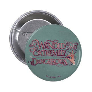 Wanded And Extremely Dangerous Graphic - Pink 6 Cm Round Badge