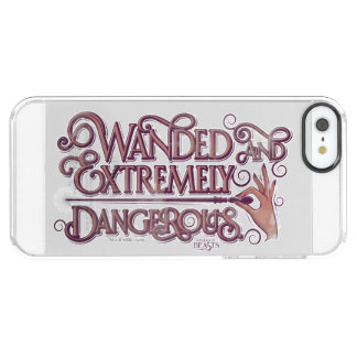 Wanded And Extremely Dangerous Graphic - Pink Clear iPhone SE/5/5s Case