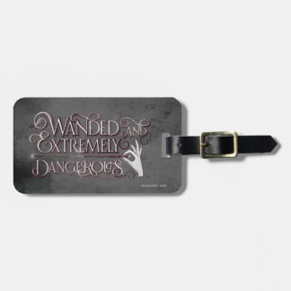 Wanded And Extremely Dangerous Graphic - White Luggage Tag