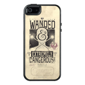 Wanded & Extremely Dangerous Wanted Poster - Black OtterBox iPhone 5/5s/SE Case