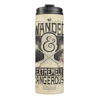 Wanded & Extremely Dangerous Wanted Poster - Black Thermal Tumbler