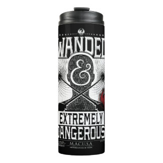 Wanded & Extremely Dangerous Wanted Poster - White Thermal Tumbler
