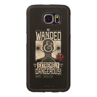 Wanded & Extremely Dangerous Wanted Poster - White Wood Phone Case