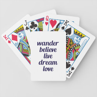 Wander Bicycle Playing Cards