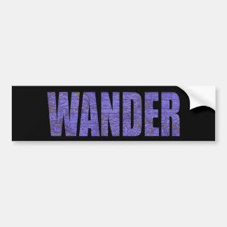 Wander Bumper Sticker
