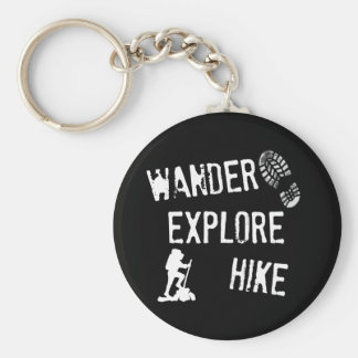 Wander, Explore, Hike Key Ring