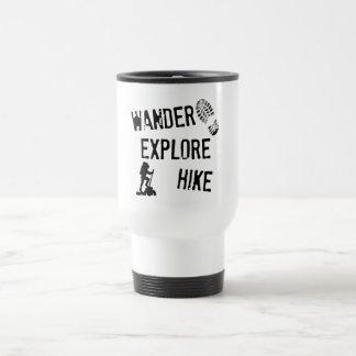 Wander, Explore, Hike Stainless Steel Travel Mug