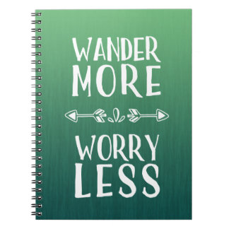 Wander More | Worry Less Boho Notebooks
