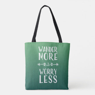 Wander More | Worry Less Boho Travel Tote Bag