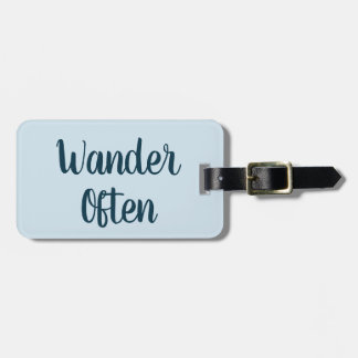 Wander Often Luggage Tag
