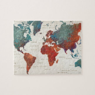 Wander Often, Wander Always Map With Quote Jigsaw Puzzle