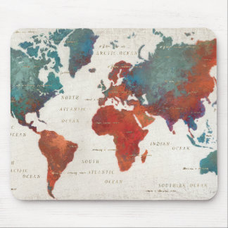 Wander Often, Wander Always Map With Quote Mouse Pad