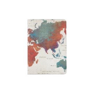 Wander Often, Wander Always Map With Quote Passport Holder