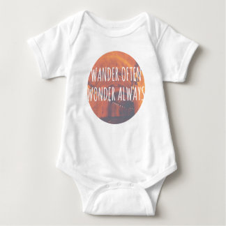 Wander Often, Wonder Always Baby Bodysuit