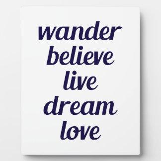 Wander Plaque