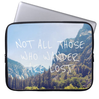 Wander Quote - Kings Canyon   Laptop Sleeve