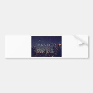 Wander Under The African Sky Bumper Sticker