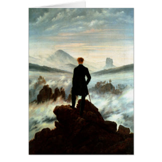 Wanderer Above the Sea of Fog, Caspar Friedrich Card