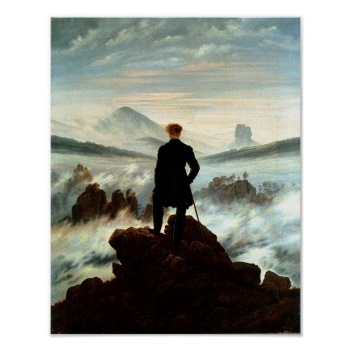 Wanderer above the Sea of Fog - Friedrich Poster