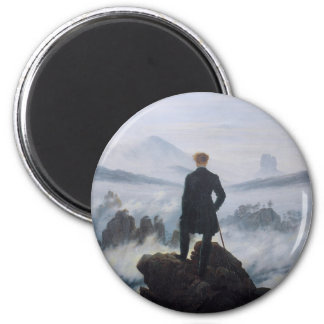 Wanderer above the Sea of Fog Magnet