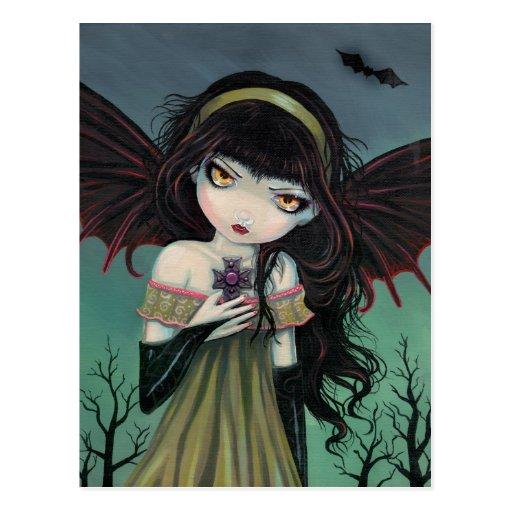 Wandering Gothic Vampire Postcard