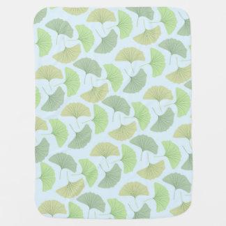 Wandering Green Gingko Fleece Baby Blanket