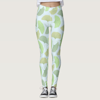 Wandering Green Ginkgo Leggings
