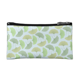 Wandering Green Ginkgo Makeup Bag