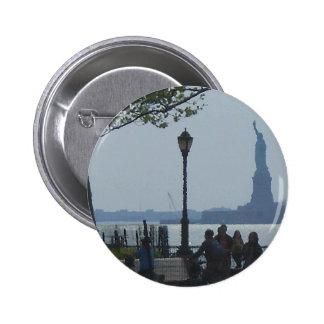 Wandering Hudson River Park CricketDiane Pinback Buttons