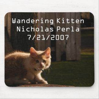 Wandering Kitten Mouse pad