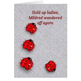 Wandering Ladybug Birthday Card