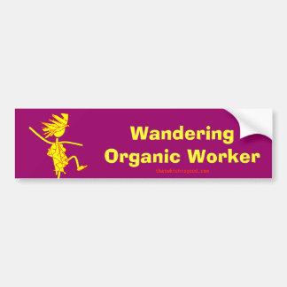 Wandering Organic Worker WOOFER Bumper Sticker