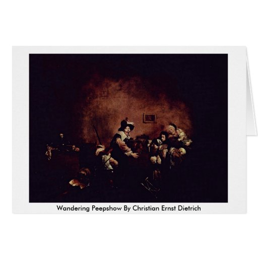 Wandering Peepshow By Christian Ernst Dietrich Cards