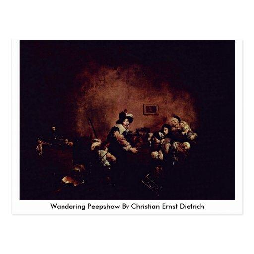 Wandering Peepshow By Christian Ernst Dietrich Postcards