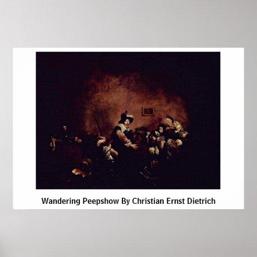 Wandering Peepshow By Christian Ernst Dietrich Print