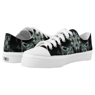 Wandering Star Abstract Black and White Pattern Low Tops