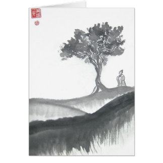 Wandering Taoist Monk Greeting Card