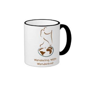 Wandering With Wanderlust Ringer Mug