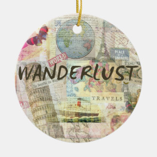 Wanderlust Ceramic Ornament