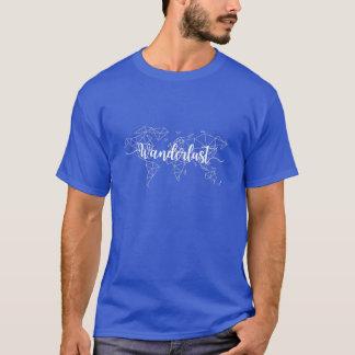 Wanderlust geometric world map T-Shirt