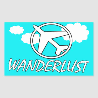 Wanderlust | Hollidays | Fly Away Rectangular Sticker